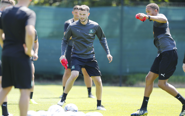 Players training