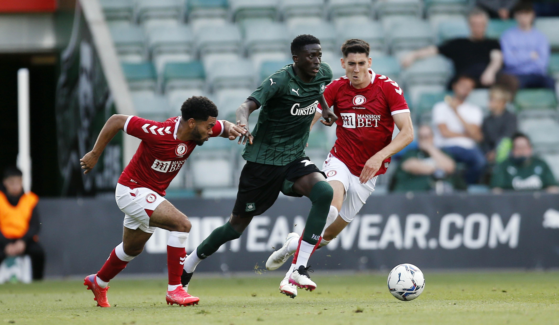 Panutche Camara runs through midfield