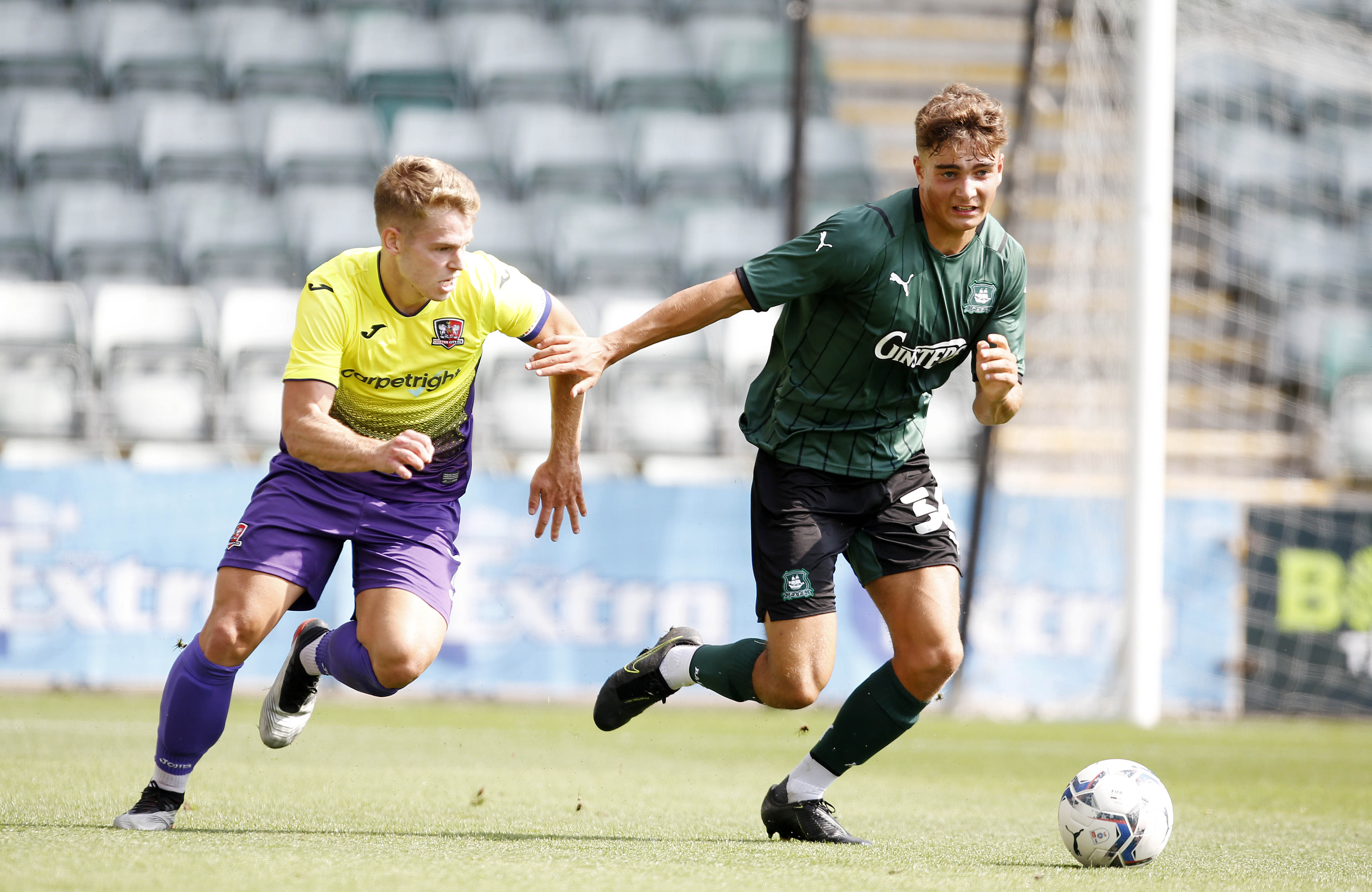 Finley Craske comes away with the ball against Exeter City Under 23s