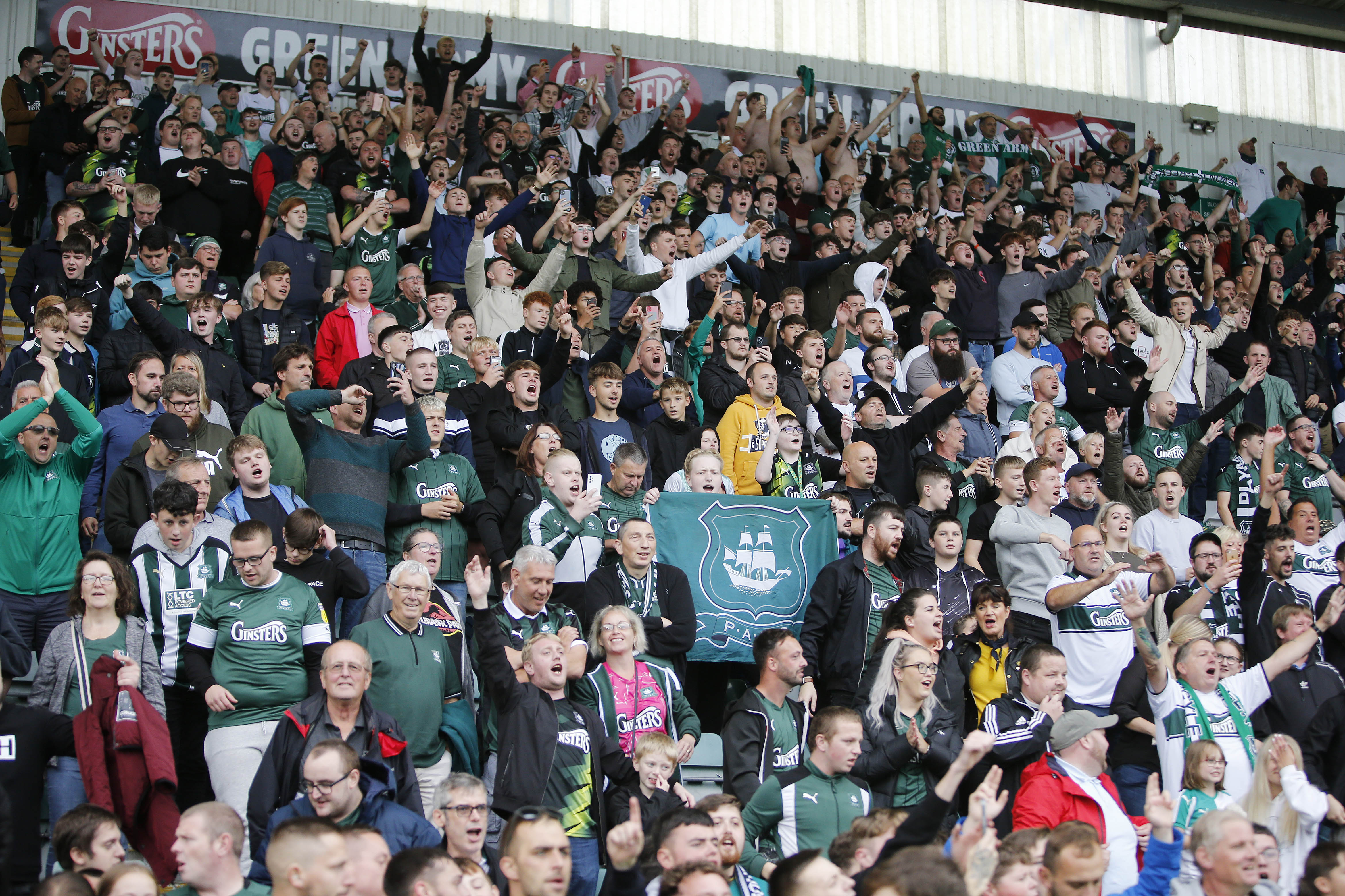 Green Army against Doncaster Rovers