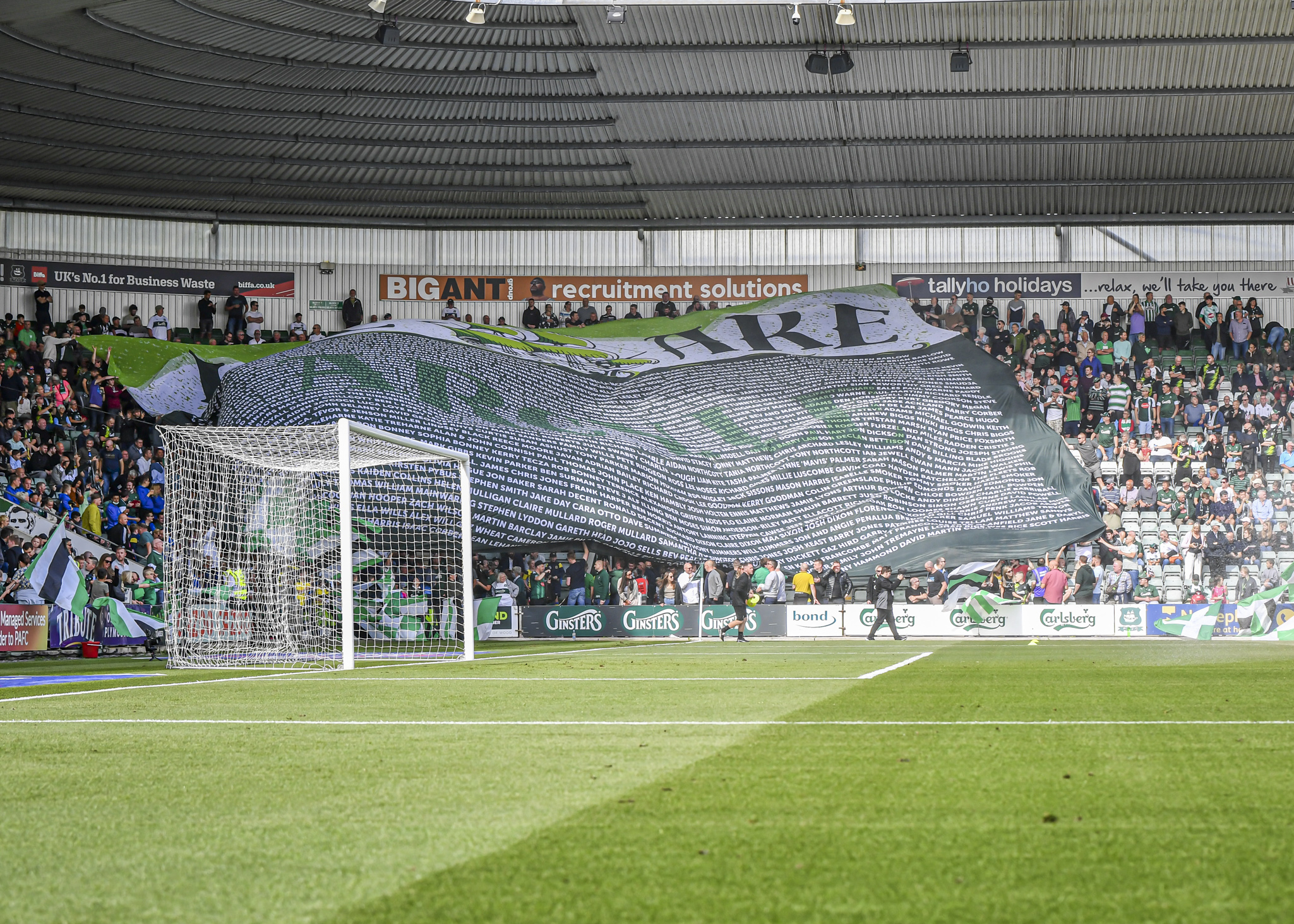 Green Army at Home Park Stadium