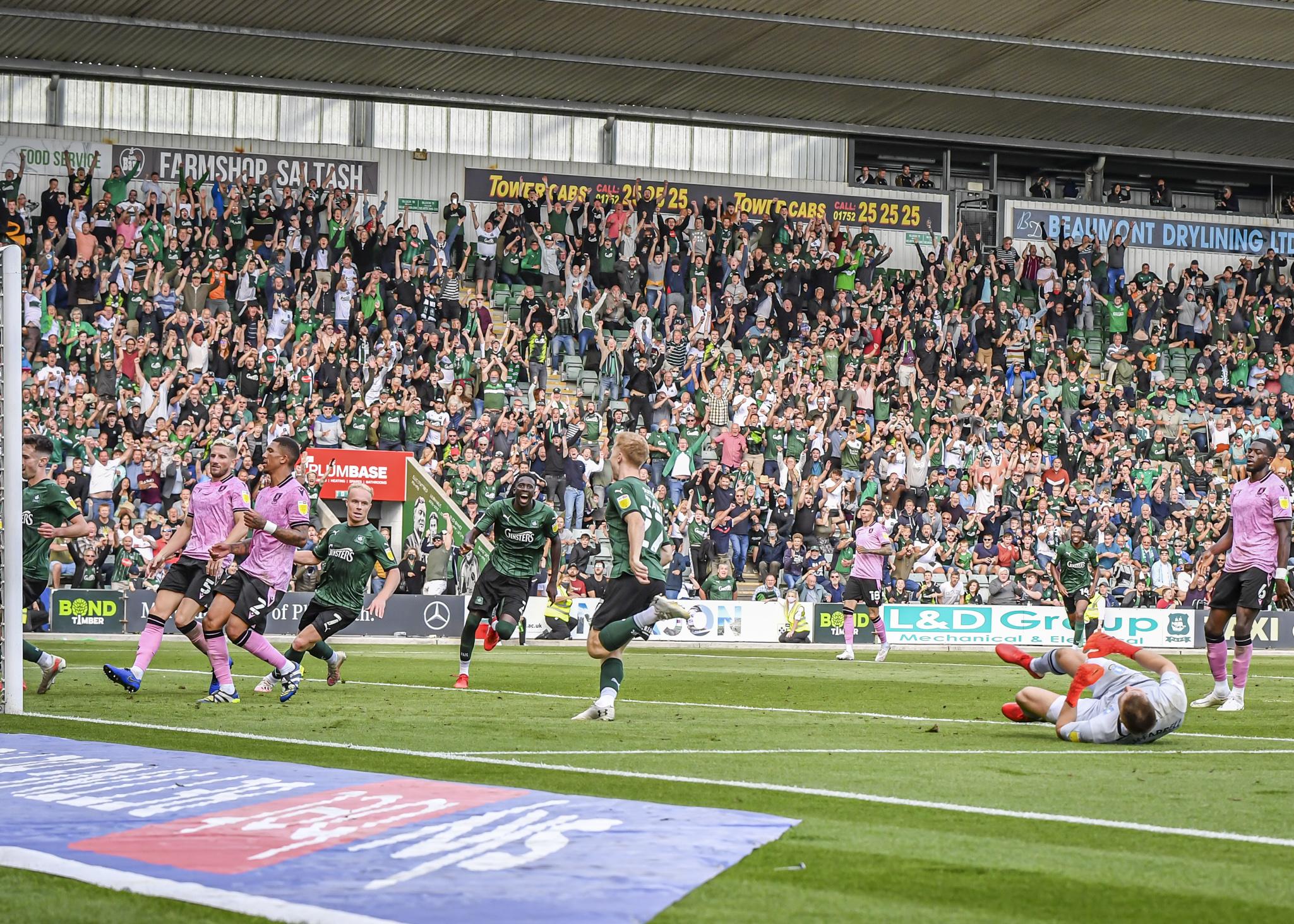Fans Celebrate v Sheffield Wednesday