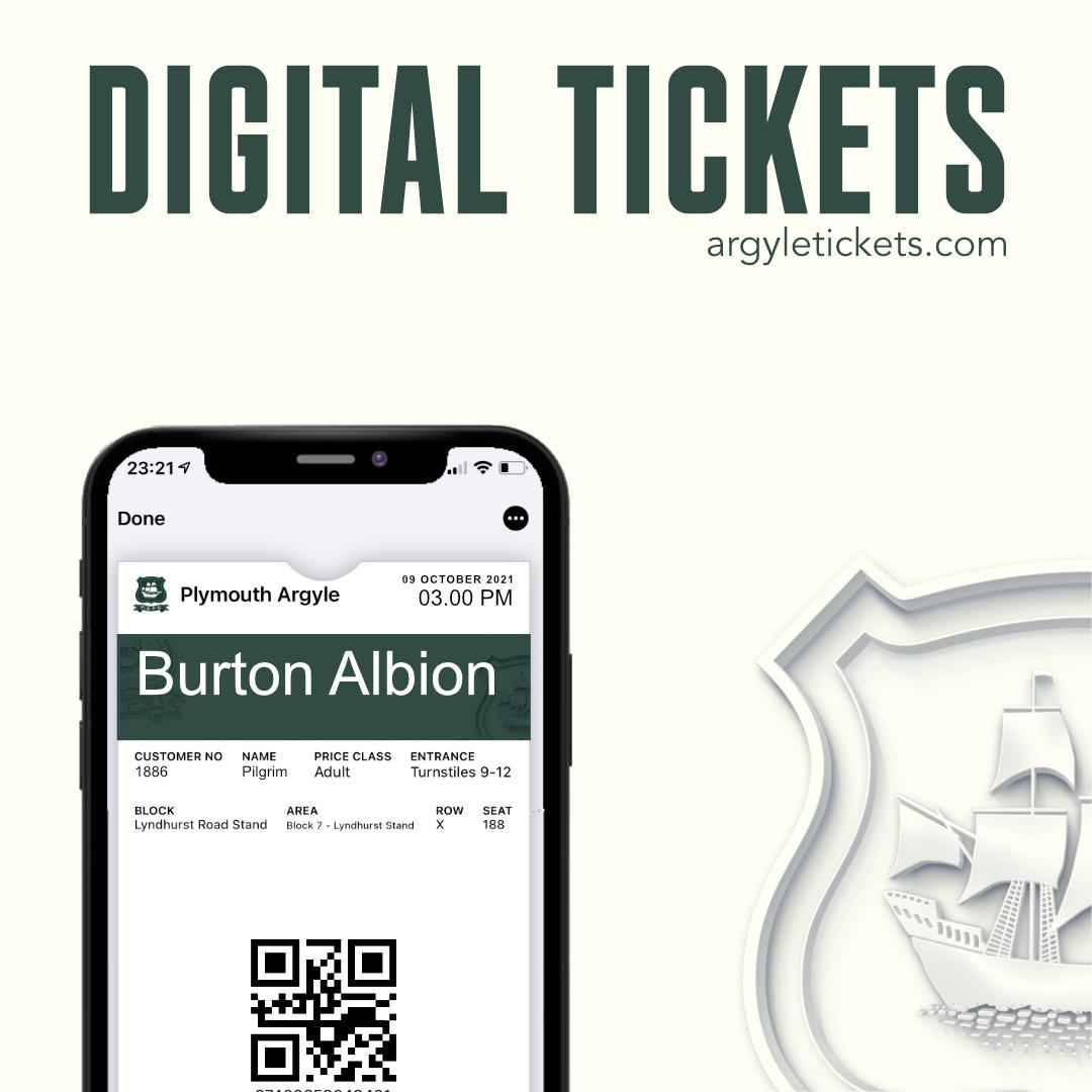 Burton Albion Digital Tickets