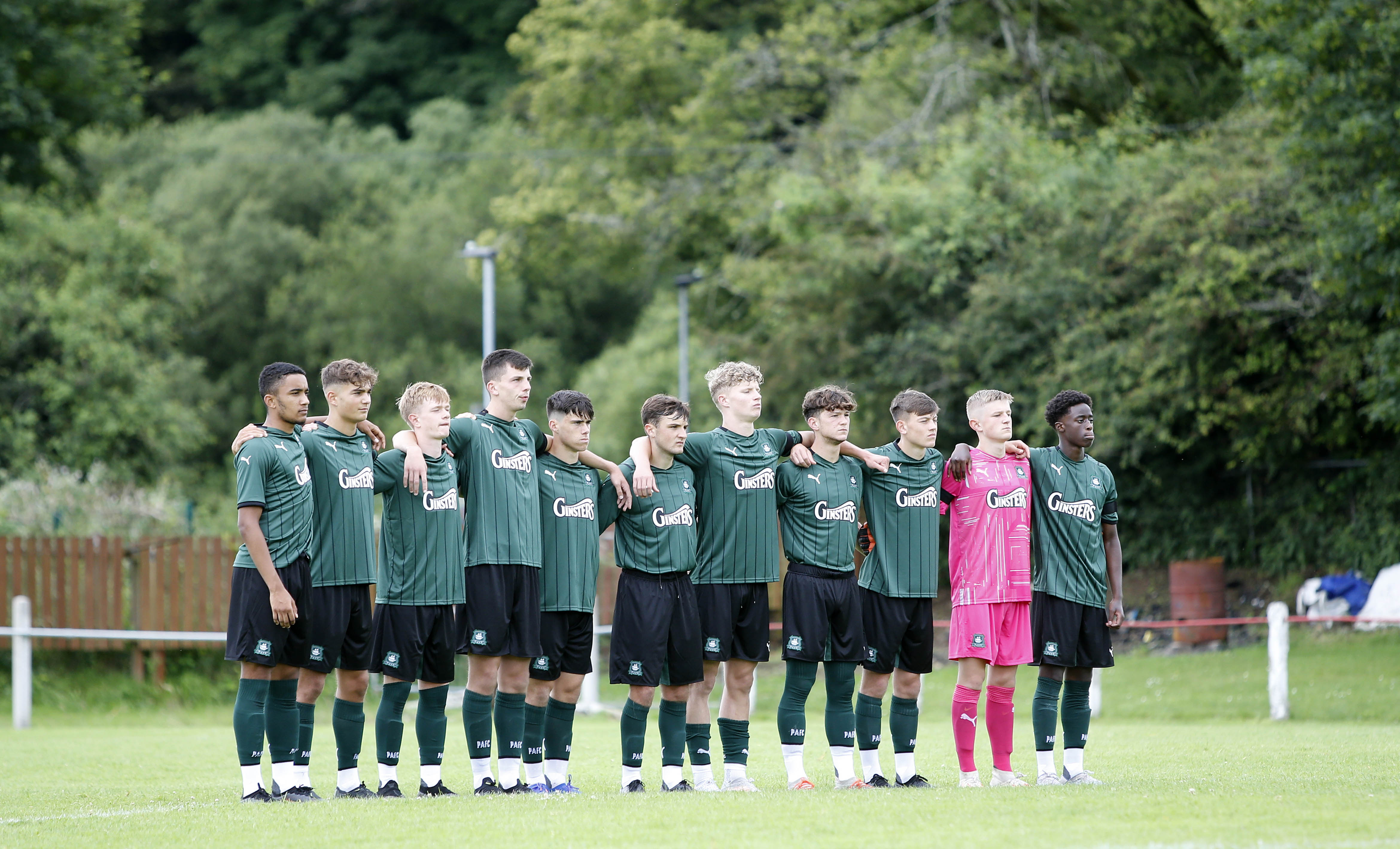 Argyle Academy players line up before a game