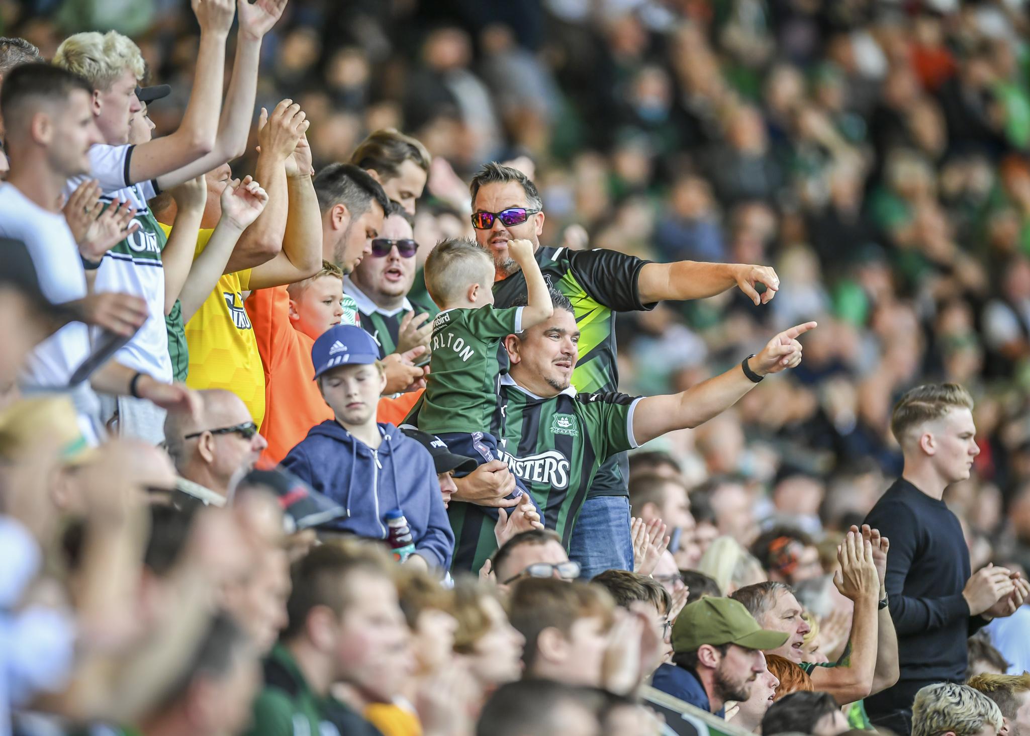 Green Army against Sheffield Wednesday