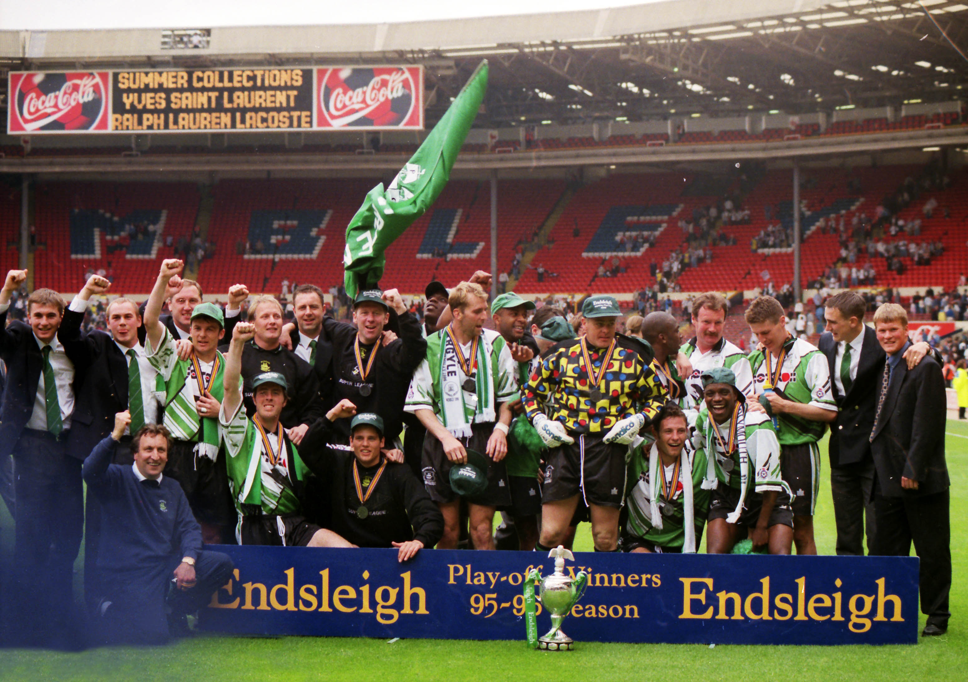 The 1996 promotion-winning side at Wembley