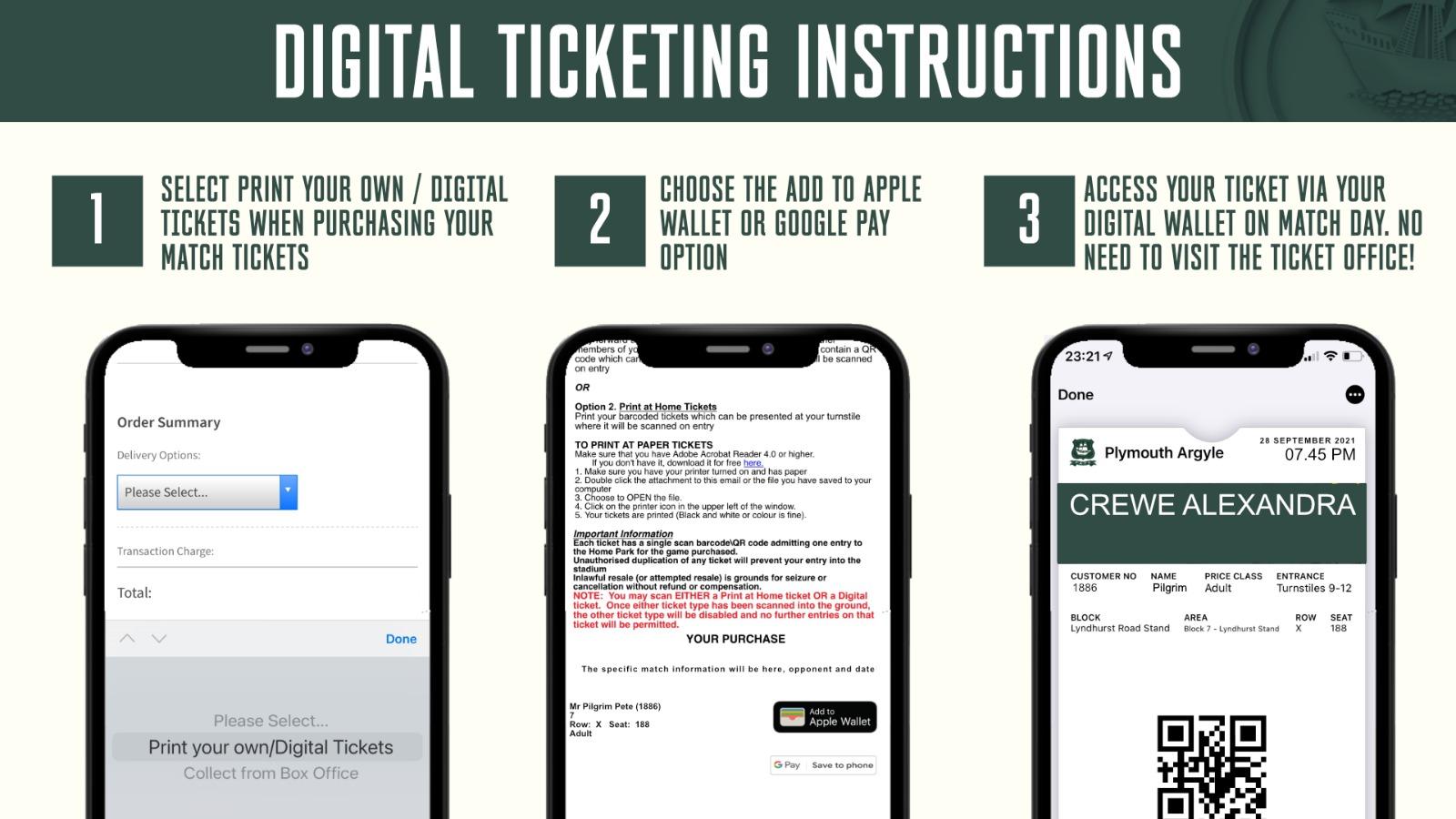 Digital Ticket Instructions